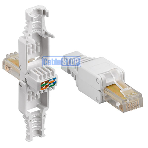Cat 5e Rj45 Ethernet Cable Connector New No Crimping Tool Needed Ebay