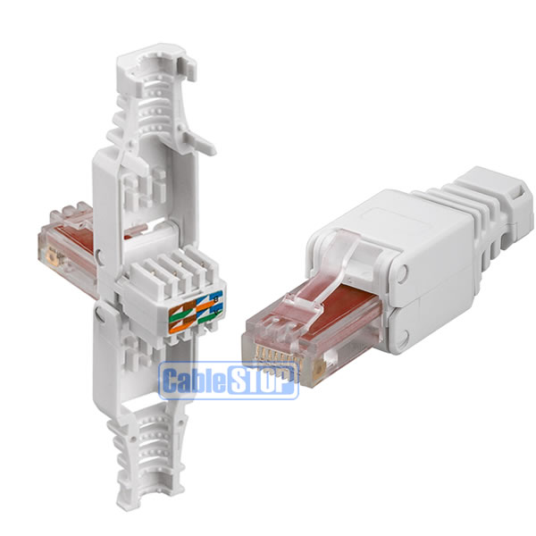Cat 6 Rj45 Ethernet Cable Connector New No Crimping Tool Needed Ebay